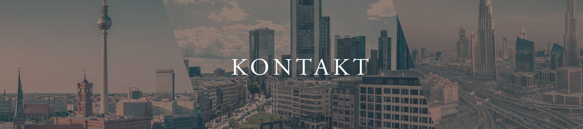 Website Header Kontakt